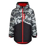 Boys 8-20 Hurley Full-Zip Hooded Insulated Jacket