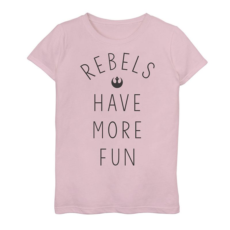 Girls 7-16 Star Wars Rebels Have More Fun Tee. Girl's. Size: Small. Pink
