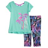 Toddler Girl Jumping Beans® Cross-Back Tee & Leggings Set