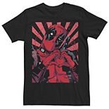 Men's Marvel Deadpool Closed Hand Heart Tee