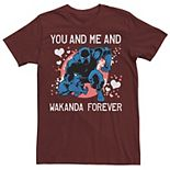 Men's Marvel Black Panther You And Me Valentine Tee