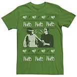 Men's Universal Monsters Mr. & Mrs. Frankenstein Holiday Pattern Tee