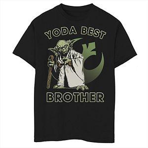 Boys 8-20 Star Wars Yoda Best Brother Graphic Tee