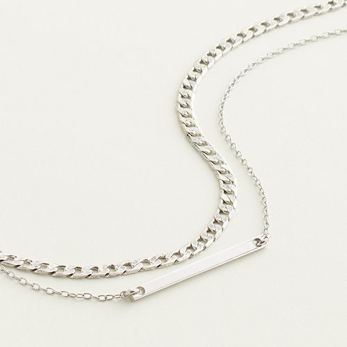 Elizabeth and James Chain & Bar Necklace Set