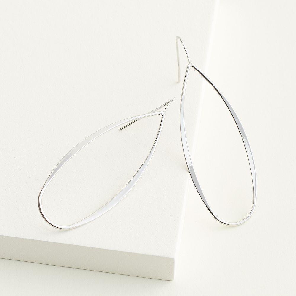 Elizabeth and James Open Oval Drop Earrings