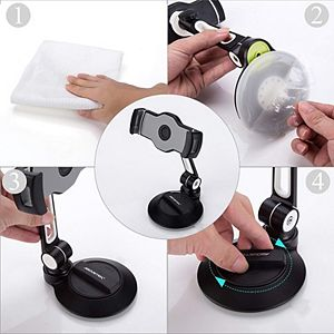 AboveTEK Suction Cup Smartphone & Tablet Stand