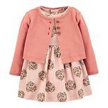 Baby Girl Carter's 2-Piece Floral Bodysuit Dress Set