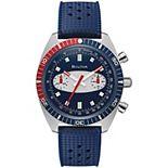 Bulova Men's Chronograph Blue Silicone Strap Watch - 98A253K