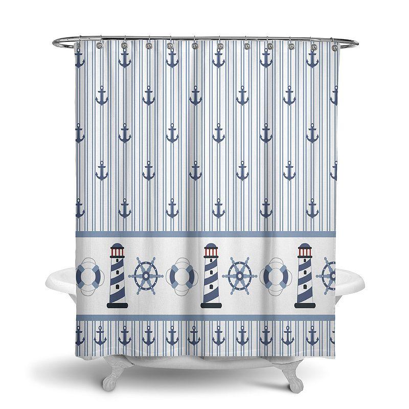 Avanti Rockport Shower Curtain. Multicolor. 72X72