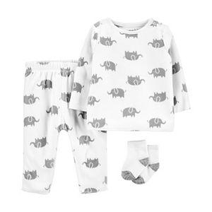 Baby Girl Carter's 3-Piece Fleece Shirt, Pants & Socks Set