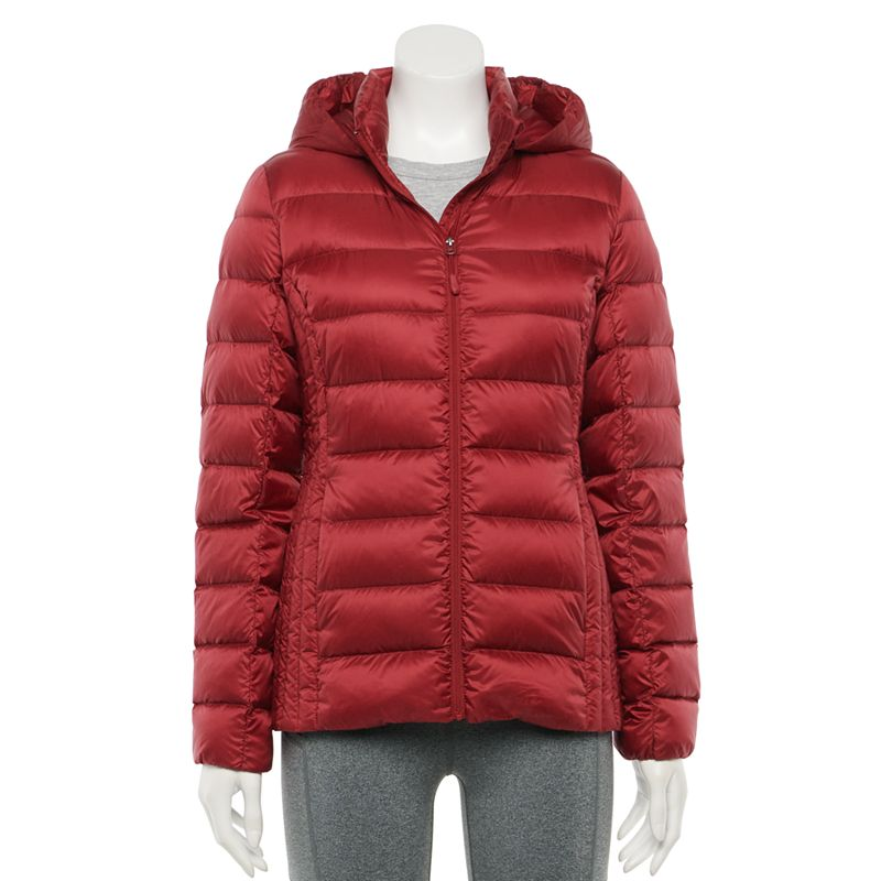 Women's HeatKeep Nano Lightweight Packable Down Jacket, Size: XXL, Dark Red