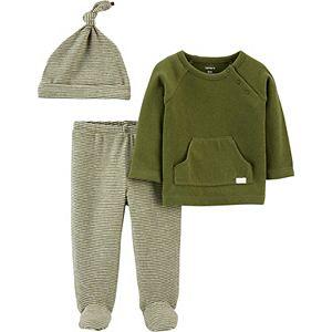 Baby Boy Carter's 3-Piece Tee, Footed Pant & Cap Set