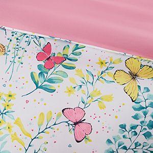 Mi Zone Kids Caroline Printed Butterfly Comforter and Sham Set