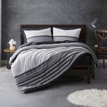 Sean John Knit Stripe Jersey Comforter Set