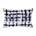 Sean John Watercolor Plaid Blue Rectangular Throw Pillow