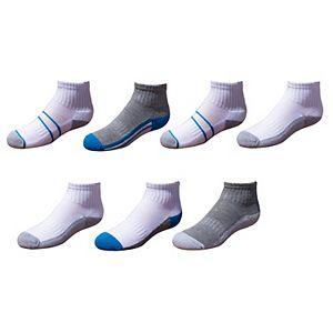 Boys 4 - 20 Tek Gear Cushioned 7-Pack Performance Quarter Socks