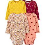 Baby Girl Carter's 4-Pack Floral Original Bodysuits