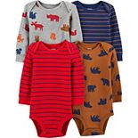 Baby Boy Carter's 4-Pack Animals Original Bodysuits