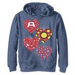 Boys 8-20 Marvel Heroes Symbol Hearts Valentine's Hoodie