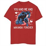 Boys 8-20 Marvel Black Panther You And Me Valentine Tee