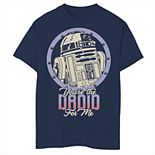 Boys 8-20 Star Wars R2-D2 Droid For Me Valentine's Tee