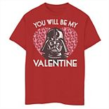 Boys 8-20 Star Wars You Will Be My Valentine Darth Vader Tee