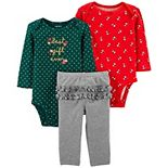 Baby Girl Carter's 3-Piece Bodysuits & Pants Best Gift Ever Little Character Set