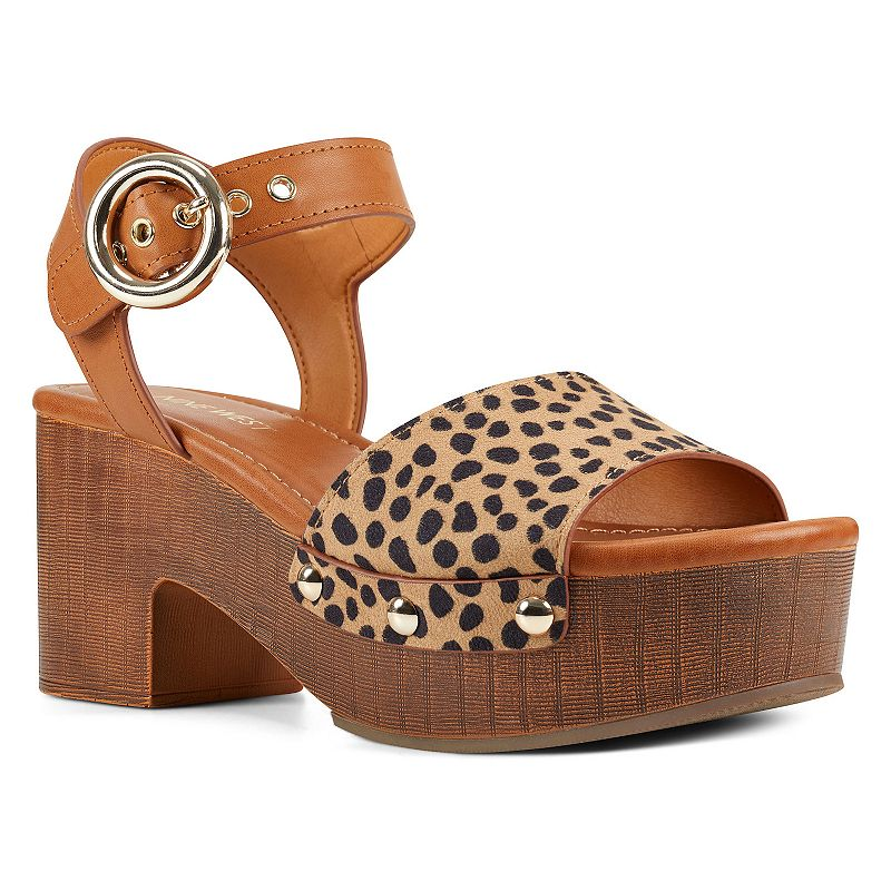 These Nine West Jayce platform sandals are sure to elevate your look and make a bold statement. These Nine West Jayce platform sandals are sure to elevate your look and make a bold statement. SANDAL FEATURES Metal grommet and stud embellishment details Traction sole, platform and block heel Strappy upper, ankle strap with buckle closureSANDAL CONSTRUCTION Faux leather, faux suede upper Manmade lining & outsoleSANDAL DETAILS Open toe Buckle closure Padded footbed 2.75-in. heel 1.5-in. platform height Size: 11. Color: Beige. Gender: female. Age Group: adult. Material: Fabric.