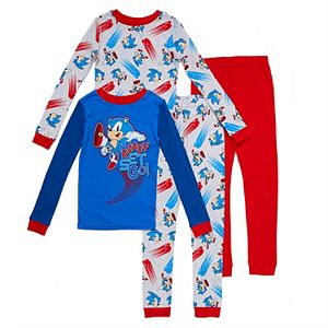 Boys 4-14 Sonic The Hedgehog 4-piece Pajama Set