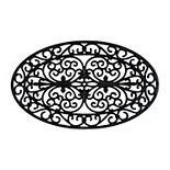 RugSmith Moulded Oval Trellis Rubber Doormat