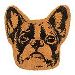 RugSmith Natural Machine Tufted Terrier Head Coir Doormat