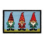 RugSmith Machine Tufted Gnomes Coir Doormat