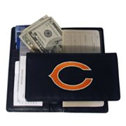 Chicago Bears Leather Checkbook Wallet