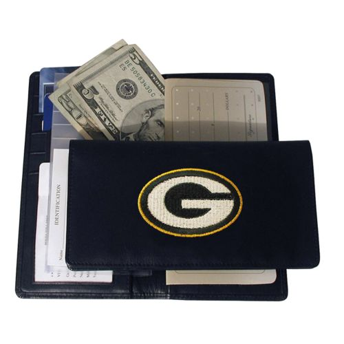 Green Bay Packers Leather Checkbook Wallet