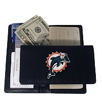 Miami Dolphins Leather Checkbook Wallet