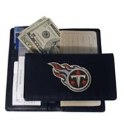 Tennessee Titans Leather Checkbook Wallet