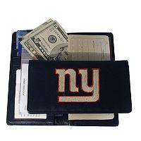 New York Giants Leather Checkbook Wallet