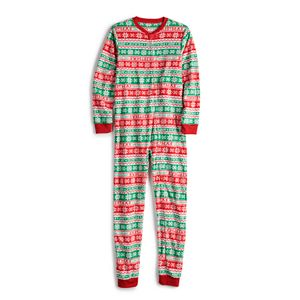 Jammies For Your Families Kids 4-20 Christmas Like You Mean It Onsie Pajamas