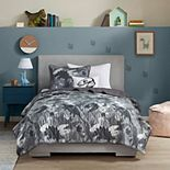 Mi Zone Kids Printed Dino Camo Coverlet Set