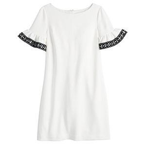 Women's ELLE? Flutter-Sleeve Shift Dress