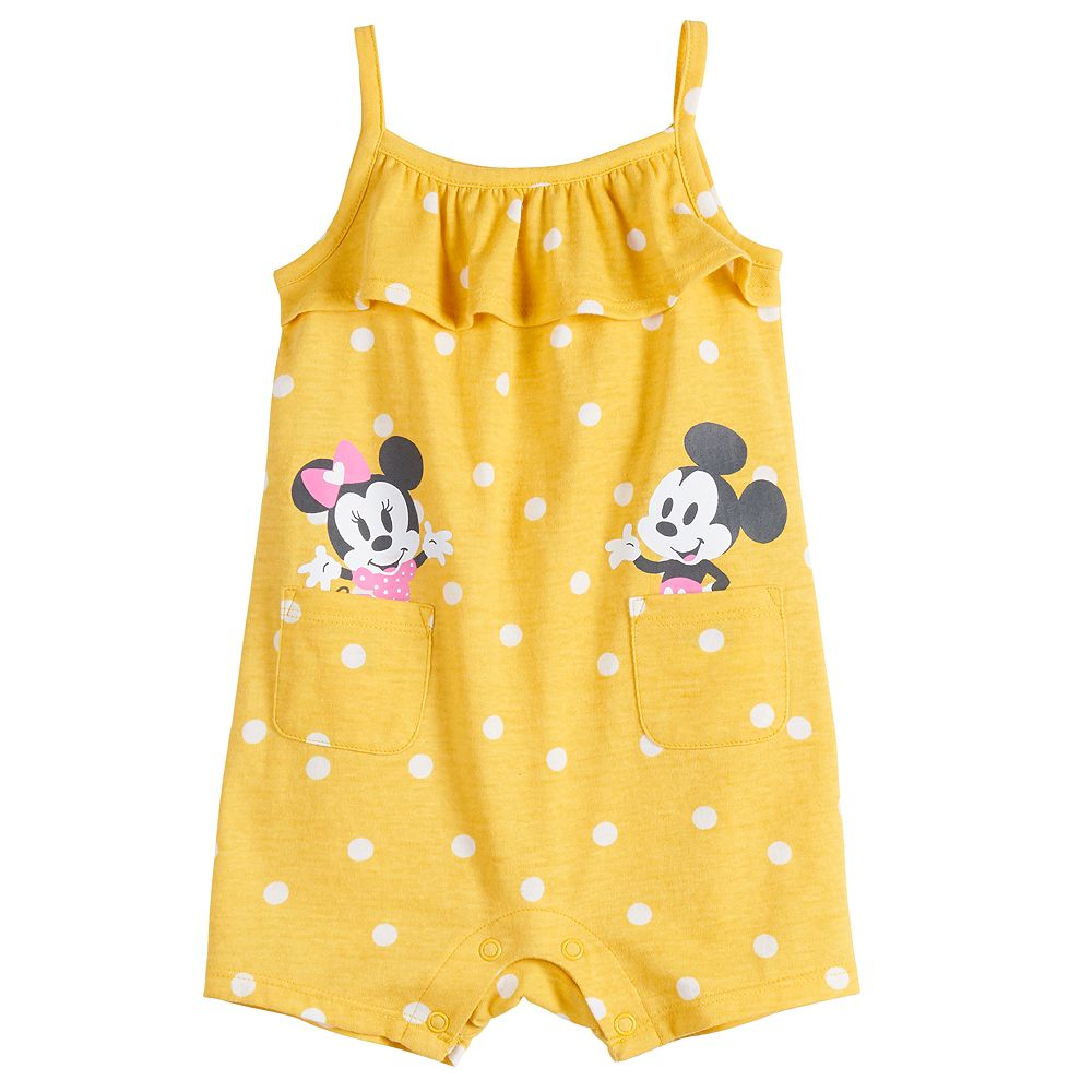 Disney's Minnie & Mickey Mouse Baby Girl Ruffled Romper by Jumping Beans®