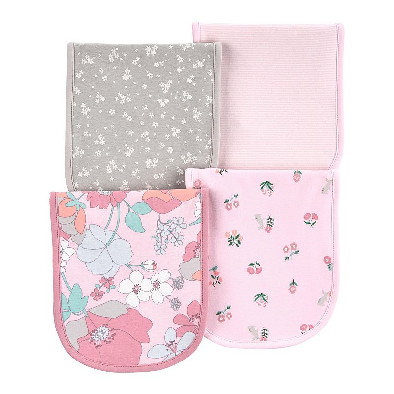 Baby Girl Carter's 4-Pack Floral Burp Cloths, Multi