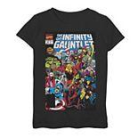 Girls 7-16 Marvel D23 Exclusive Vintage Infinity Gauntlet Comic Cover Graphic Tee