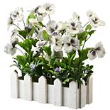 National Tree Company 14-in. Artificial Pansy Flowers in Planter