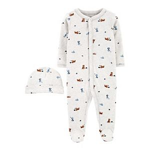 Baby Boy Carter's 2-Piece Cap & Snap-Up Cotton Sleep & Play Set