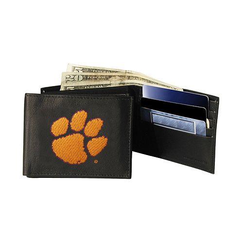 Clemson University Tigers Bifold Leather Wallet