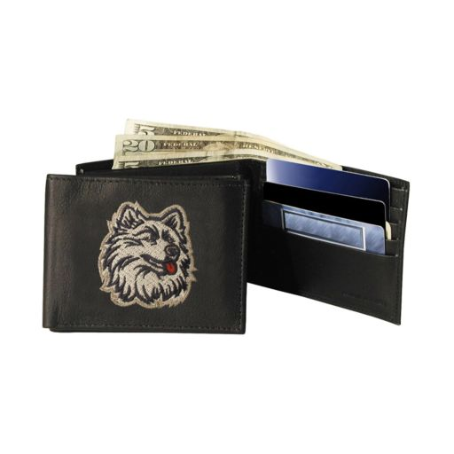 University of Connecticut Huskies Bifold Leather Wallet