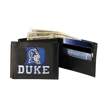 Duke University Blue Devils Bifold Leather Wallet