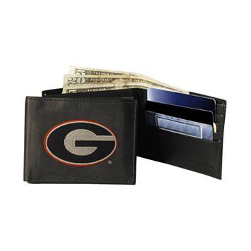 University of Georgia Bulldogs Bifold Leather Wallet
