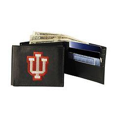 Indiana University Hoosiers Bifold Leather Wallet